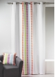 Rideau en toile de coton imprimée design Multicolore