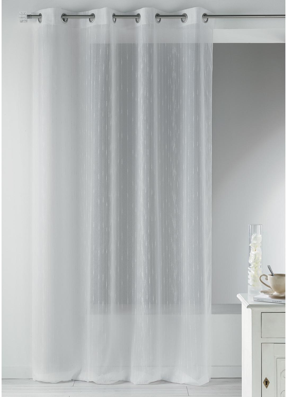 voilage en 233 tamine fantaisie 224 fines rayures verticales blanc ivoire homemaison vente