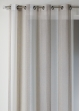 Voilage en étamine fantaisie à rayures verticales  Lin