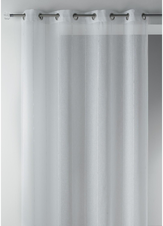 Voilage en étamine tissée grande largeur (Blanc)