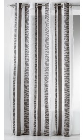 Voilage en organza jacquard à rayures verticales zebrées