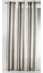 Visillo en organza jacquard a rayas verticales cebra