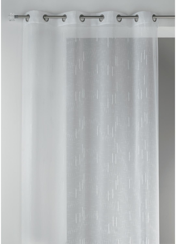 voilage fantaisie en tamine blanc fuchsia terracotta anis bleu gris. Black Bedroom Furniture Sets. Home Design Ideas
