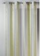 Voilage fantaisie en organza à rayures verticales design  Vert