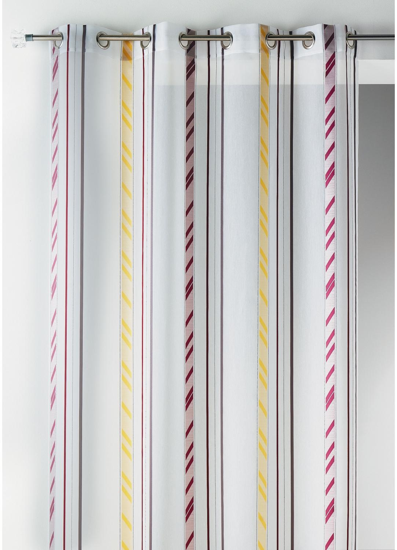 Voilage fantaisie en organza à rayures verticales (Multicolore)