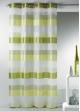 Voilage fantaisie tissée à rayures horizontales  Bambou