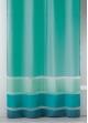 Voilage fantaisie tissée avec rayures horizontales  Turquoise
