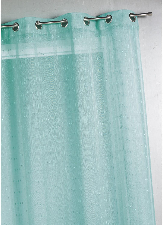 Voilage tissé et fileté  (Turquoise)
