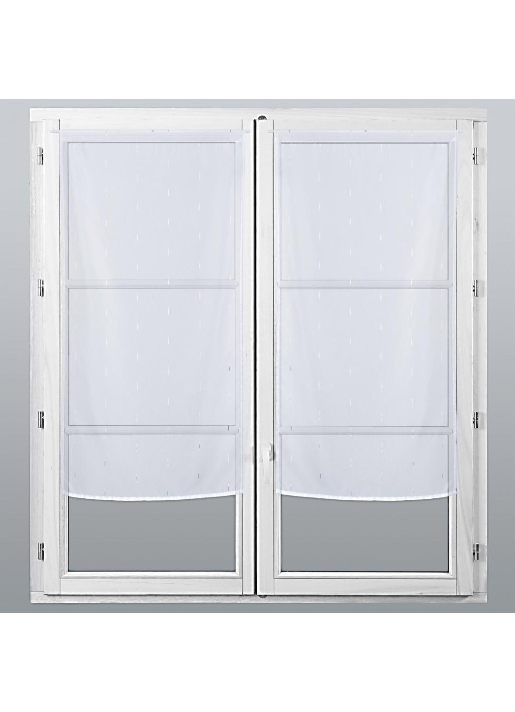 petits voilages vitrages en lurex fantaisie blanc homemaison vente en ligne petits. Black Bedroom Furniture Sets. Home Design Ideas