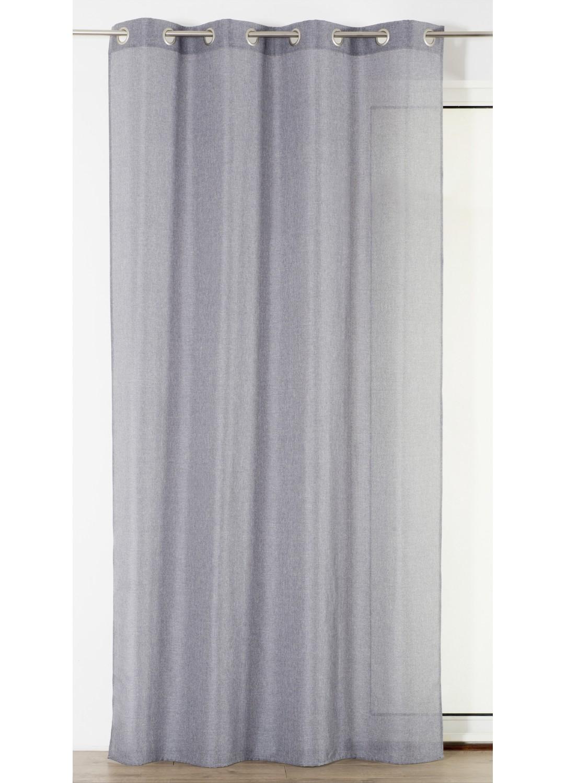 rideau uni tiss gris homemaison vente en ligne rideaux. Black Bedroom Furniture Sets. Home Design Ideas