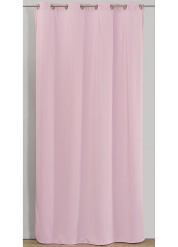 Rideau Uni en Jersey - Rose - 140 x 260 cm. Le tombé élégant et la douceur du toucher de ce rideau en jersey vont vous faire craq