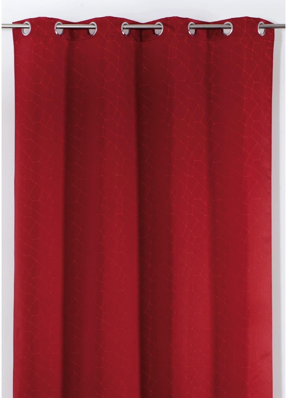 rideau en jacquard design rouge ivoire taupe orange homemaison vente en ligne rideaux. Black Bedroom Furniture Sets. Home Design Ideas