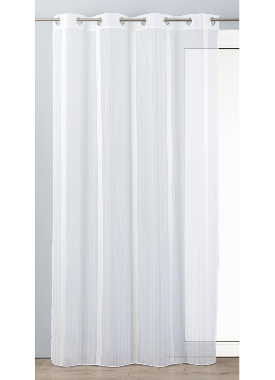voilage en etamine l 233 g 232 re 224 rayures verticales naturel anis gris boudoir