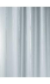 Tissu en Etamine Jacquard à Rayures Verticales Design (Blanc)