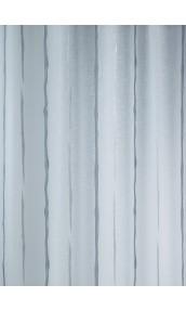Tissu en Etamine Jacquard à Rayures Verticales Design (Gris)