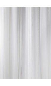 Tissu en Etamine Légère à Rayures Verticales (Beige)