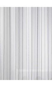 Tissu en Etamine Légère à Rayures Verticales (Gris)