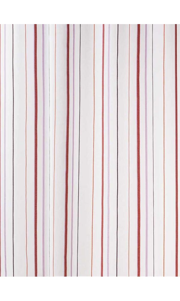 Tissu en Etamine Légère à Rayures Verticales