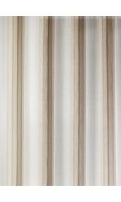 Tissu en Etamine à Rayures Verticales (Beige)