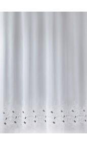 Tissu en Voile Sablé et Base Brodée