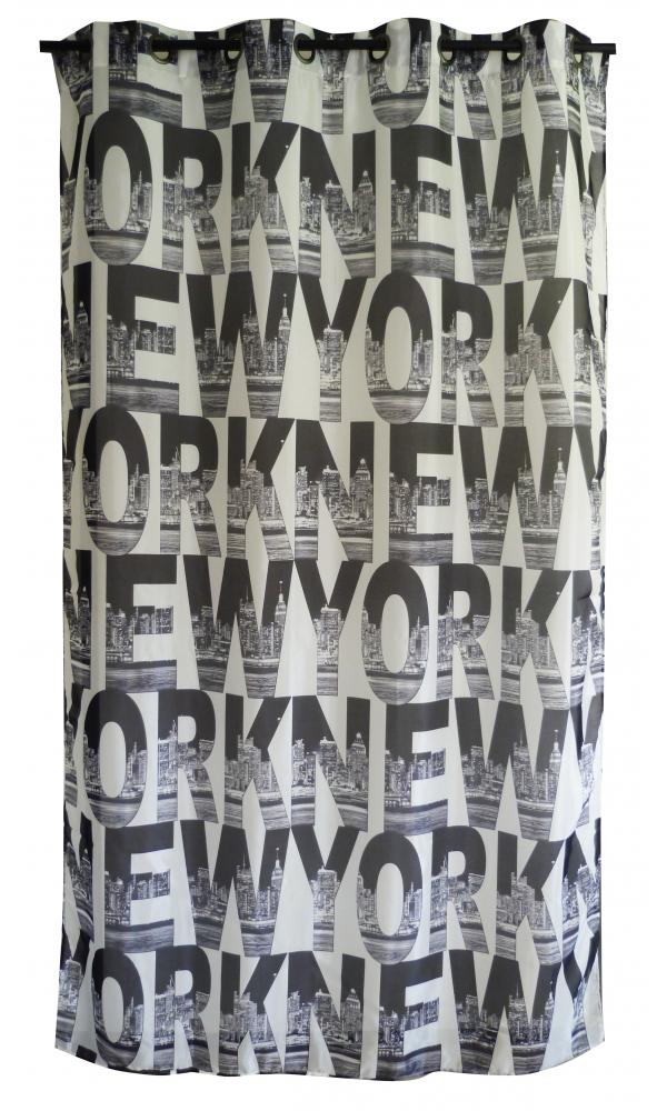Voilage Imprimé Motif 'New York'