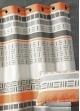 Rideau en jacquard design à rayures horizontales  Orange