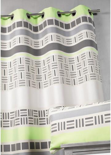 Rideau en jacquard design à rayures horizontales - Vert - 140 X 260. Laissez-vous tenter par le design de cerideau d'ameublementen&