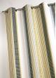 Rideau en jacquard fantaisie à rayures verticales   Bambou