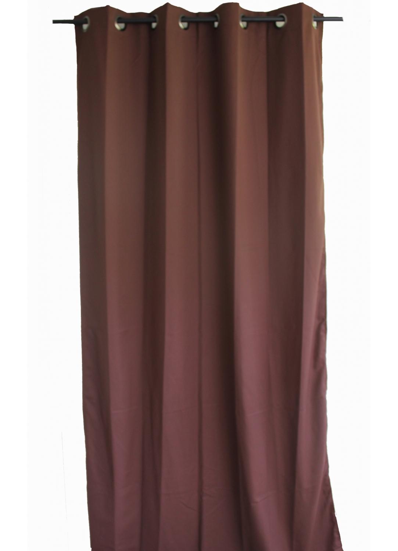 rideau uni en toile souple ignifug 233 m1 chocolat lie de vin safran outre mer noir