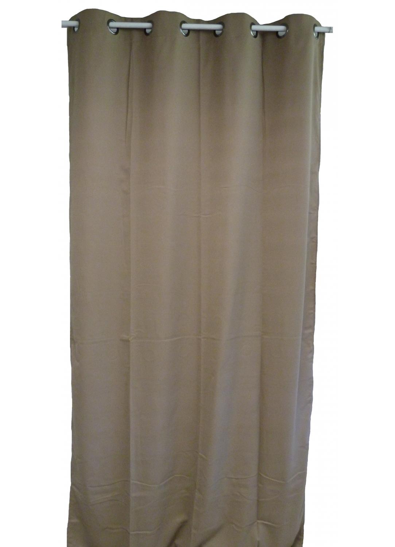 rideau uni en toile souple ignifug 233 m1 caramel lie de vin safran bordeaux ivoire