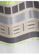 Voilage vitrage en étamine avec parement haut design  Vert