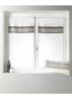 Voilage vitrage en étamine avec parement haut design  Blanc