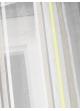 Store voilage fantaisie à rayures horizontales fluo  Vert