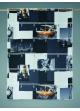 Voilage brise bise en voile imprimé New York Gris