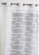 Voilage en étamine à imprimés géométriques orchidée   Blanc
