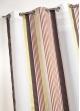 Voilage en étamine à fines rayures verticales colorées  Brique