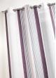 Voilage en étamine à fines rayures verticales colorées  Rose Boudoir