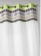 Voilage en étamine avec parement haut design  Vert