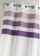 Voilage en étamine fantaisie à rayures horizontales  Violet