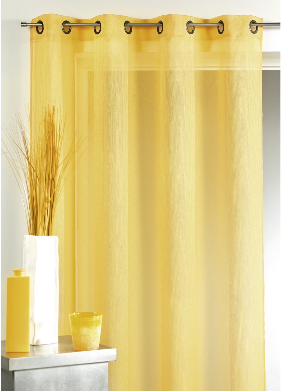 voilage en tamine uni ivoire blanc homemaison. Black Bedroom Furniture Sets. Home Design Ideas