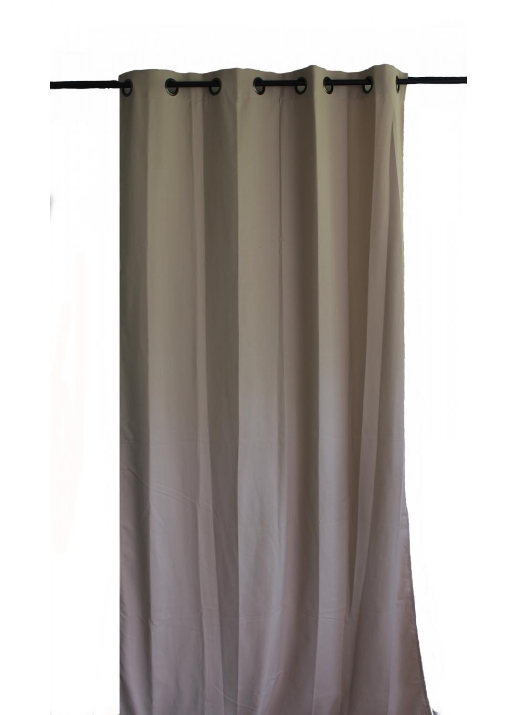 rideau uni en toile souple ignifug 233 m1 beige outre mer noir anis mandarine
