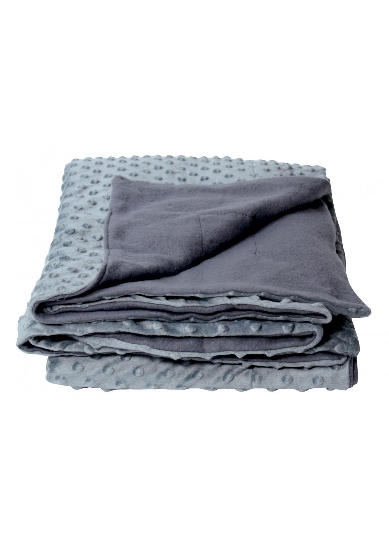 plaid en polaire avec boutons en reliefs gris homemaison vente en ligne couvertures et plaids. Black Bedroom Furniture Sets. Home Design Ideas