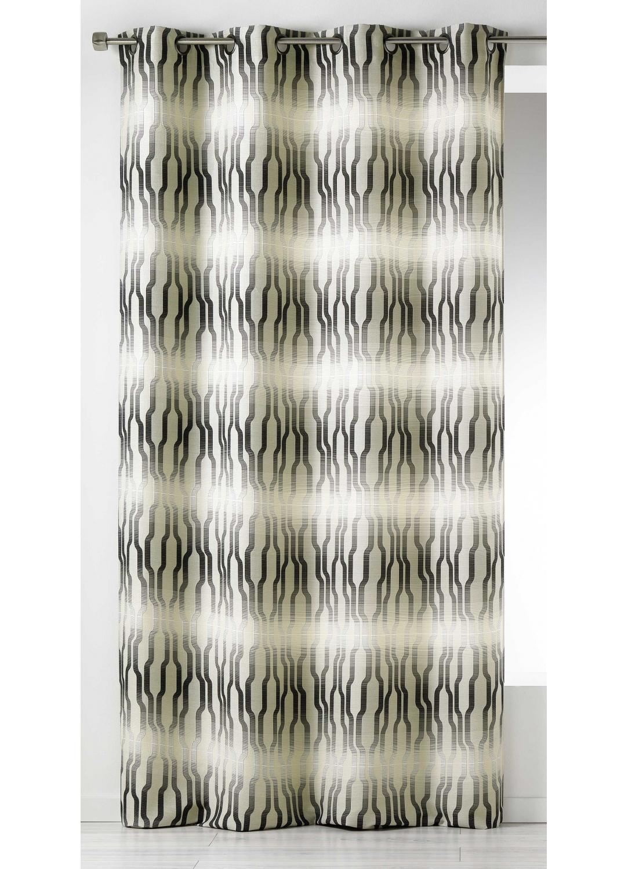 rideau en jacquard imprim s ethniques bleu canard figue bordeaux gris homemaison. Black Bedroom Furniture Sets. Home Design Ideas