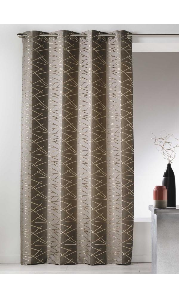 rideau en jacquard taupe bleu moka gris bois de rose homemaison vente en ligne. Black Bedroom Furniture Sets. Home Design Ideas