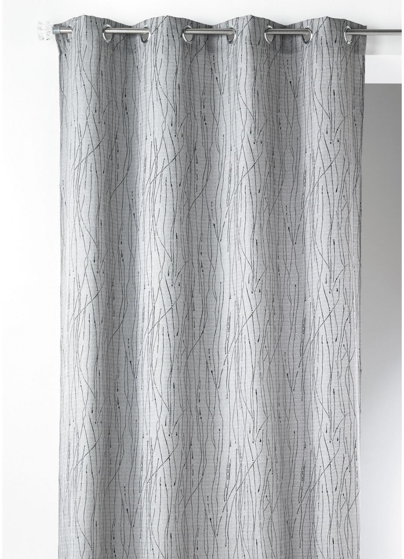 Cortina estampado zigzag gris cortina casa venta en for Cortinas en tonos grises