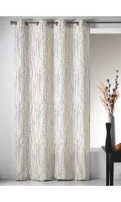 voilage en etamine imprim e z br blanc homemaison vente en ligne voilages. Black Bedroom Furniture Sets. Home Design Ideas