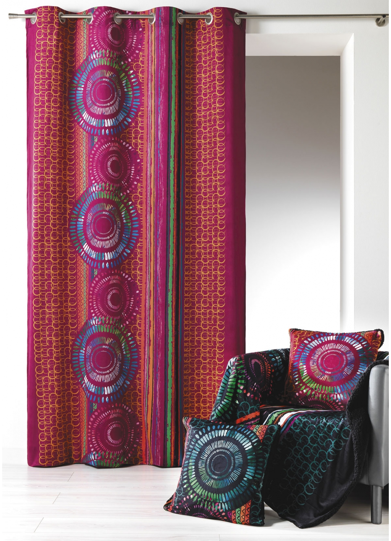 rideau en velours imprim bordeaux noir homemaison vente en ligne rideaux. Black Bedroom Furniture Sets. Home Design Ideas