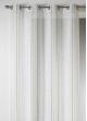 Voilage Design en Etamine à Rayures Verticales  Bambou