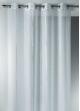 Voilage en Etamine Jacquard à Rayures Verticales Design  Blanc