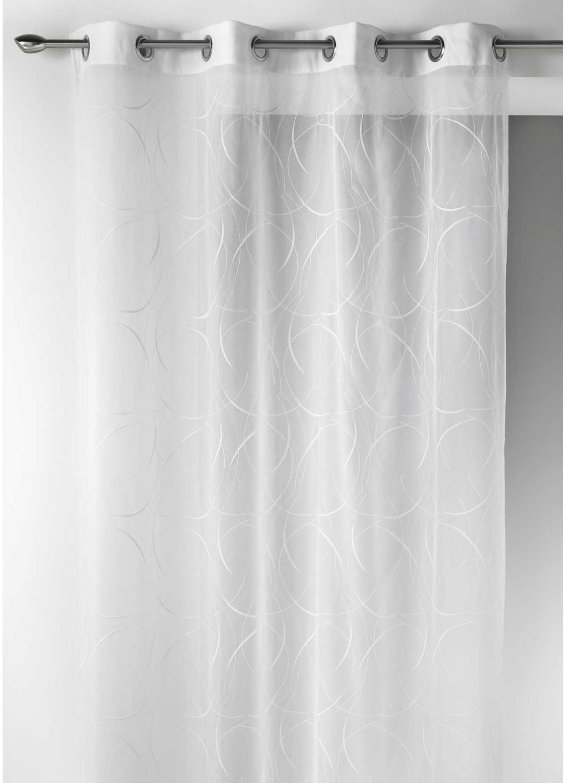 voilage en etamine l g re artistique blanc bordeaux gris homemaison vente en ligne. Black Bedroom Furniture Sets. Home Design Ideas